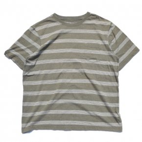 Greensource Striped Pocket Tee Olive