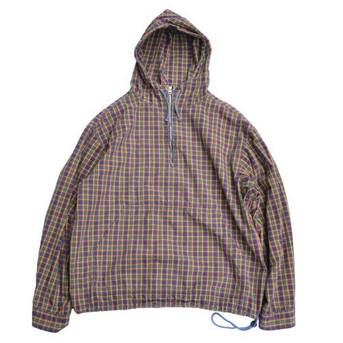 J.CREW Cotton Anorak Plaid