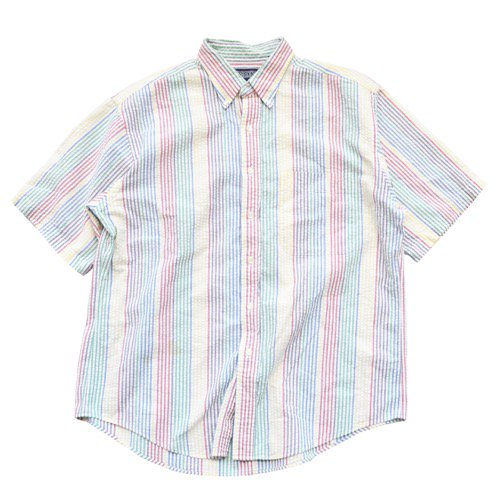LANDS' END Seersucker Short Sleeve Shirt