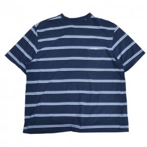 Puritan Striped Pocket Tee Navy