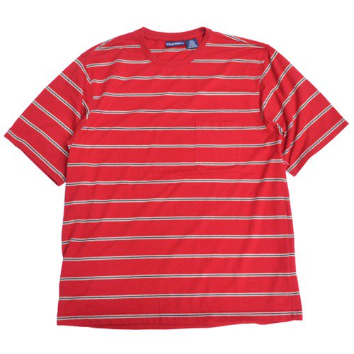 Puritan Striped Pocket Tee Red