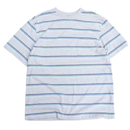 Puritan Striped Pocket Tee Grey