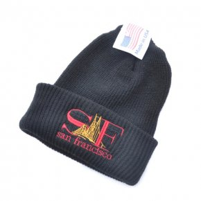 Bay Area Gift Shop SF Watch Cap Black