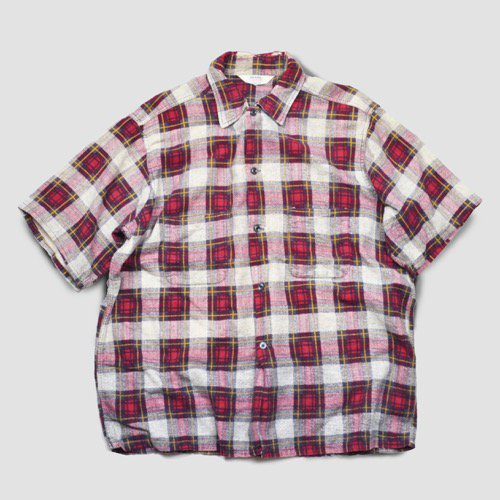 SEARS Printed Flannel Short Sleeve Shirt