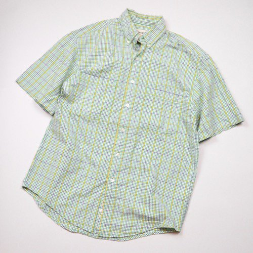 Eddie Bauer Seersucker Short Sleeve Button Down Shirt