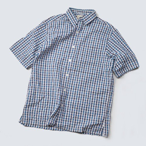 L.L.Bean Seersucker Short Sleeve Shirt