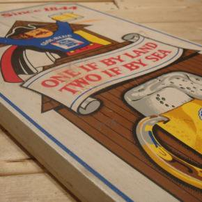 Pabst(パブスト)Blue Ribbon Wooden Sign