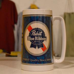 Pabst(パブスト)Blue Ribbon Beer Mugs