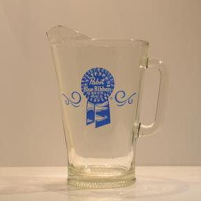 Pabst(パブスト)Blue Ribbon Glass Pitcher
