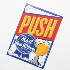 Pabst(パブスト)Blue Ribbon Window Sticker