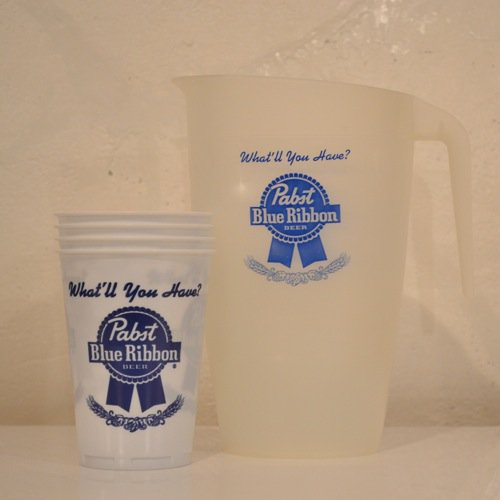Pabst(パブスト)Blue Ribbon Pitcher And Cups Deadstock