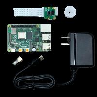 Raspberry Pi 4 Model B(4GB)& USB電源、Camera Module V2