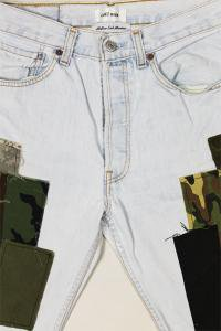 <img class='new_mark_img1' src='//img.shop-pro.jp/img/new/icons16.gif' style='border:none;display:inline;margin:0px;padding:0px;width:auto;' />COTEMER×YSM EXCLUSIVE REMAKE LEVI'S MILITARY DENIM SHORTS 【L.IND】