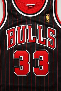 MITCHELL&NESS AUTHENTIC JERSEY BULLS PIPPEN 【BLK/RED】