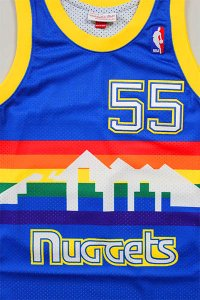 MITCHELL&NESS AUTHENTIC JERSEY NUGGETS MUTOMBO 【BLU/YEL】