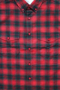 EPTM L/S SIDE ZIP FLANNEL SHIRTS 【RED/GRN】