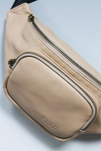 EPTM VEGAN LEATHER CROSS WAIST BAG 【TAN】