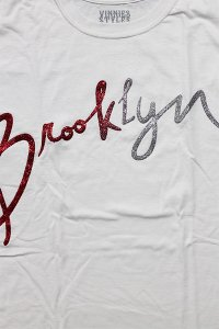 PAULIES CLASSIC BROOKLYN S/S TEE GRITTER 【WHT/RED/SIL】