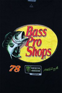 <img class='new_mark_img1' src='//img.shop-pro.jp/img/new/icons16.gif' style='border:none;display:inline;margin:0px;padding:0px;width:auto;' />BassProShops S/S TEE RACING NASCAR CHAMPION 【BLK】