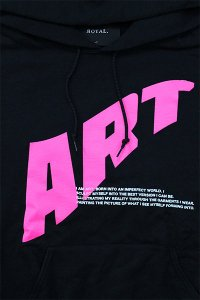 <img class='new_mark_img1' src='https://img.shop-pro.jp/img/new/icons16.gif' style='border:none;display:inline;margin:0px;padding:0px;width:auto;' />ROYAL.2 HOODIE ART【BLK/PINK】