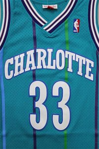 MITCHELL&NESS SWINGMAN JERSEY HORNETS MOURNING【TAQ/PUR】