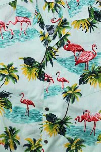 PACIFIC LEGEND S/S ALOHA SHIRTS FLAMINGO【E.GRN】
