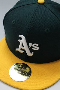NEWERA 59fifty OAKLAND ATHLETICS 1989 WORLD SERIES【GRN/YEL】