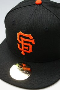 NEWERA 59fifty SANFRANCISCO GIANTS 2002 WORLD SERIES【BLK/ORG】