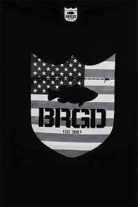 BASS BRIGADE S/S TEE STAR AND STRIPES【BLK/GRY】