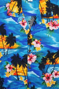 PACIFIC LEGEND S/S ALOHA SHIRTS SUNSET【TUQ/AST】