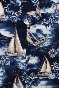 PACIFIC LEGEND S/S ALOHA SHIRTS YATCH【NVY】