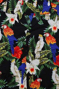 PACIFIC LEGEND S/S ALOHA SHIRTS BIRD【BLK/AST】