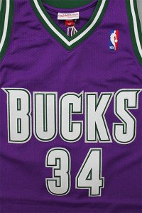 <img class='new_mark_img1' src='//img.shop-pro.jp/img/new/icons16.gif' style='border:none;display:inline;margin:0px;padding:0px;width:auto;' />MITCHELL&NESS AUTHENTIC JERSEY BUCKS ALLEN 【PUR/GRN】