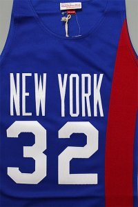 MITCHELL&NESS AUTHENTIC JERSEY NETS ERVING 【BLU/RED】