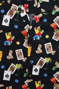 PACIFIC LEGEND S/S ALOHA SHIRTS CASINO 2【BLK】