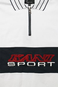 KARL KANI SPORTS S/S HALF ZIP TEE 【WHT/NVY/RED】