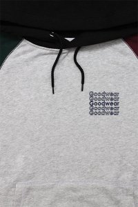 <img class='new_mark_img1' src='https://img.shop-pro.jp/img/new/icons16.gif' style='border:none;display:inline;margin:0px;padding:0px;width:auto;' />Goodwear BLOCKED COLOR HOODIE【GRY/BLK/D.GRN/BUR】