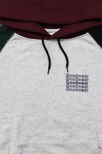 <img class='new_mark_img1' src='https://img.shop-pro.jp/img/new/icons16.gif' style='border:none;display:inline;margin:0px;padding:0px;width:auto;' />Goodwear BLOCKED COLOR HOODIE【GRY/BUR/BLK/D.GRN】