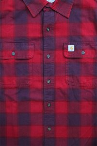 Carhartt L/S HEAVY FLANNEL SHIRTS 【RED】