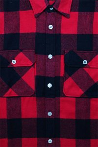ROTHCO L/S HEAVY FLANNEL SHIRTS【RED/BLK】