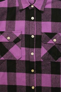<img class='new_mark_img1' src='https://img.shop-pro.jp/img/new/icons16.gif' style='border:none;display:inline;margin:0px;padding:0px;width:auto;' />ROTHCO L/S HEAVY FLANNEL SHIRTS【PUR/BLK】