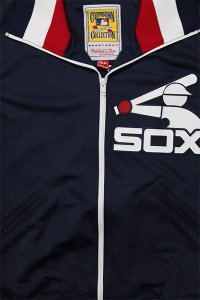 <img class='new_mark_img1' src='https://img.shop-pro.jp/img/new/icons16.gif' style='border:none;display:inline;margin:0px;padding:0px;width:auto;' />MITCHELL&NESS AUTHENTIC BATTING JERSEY TOP SOX【NVY/WHT/RED】