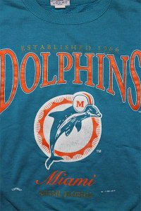 VINTAGE NFL CREW SWEAT DOLPHINS【TUQ/ORG】