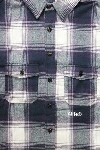 ALIFE FLANNEL SHIRTS【PUR/WHT】