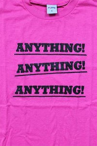 aNYthing NYC HAT TRICK LOGO S/S TEE【N.PINK】