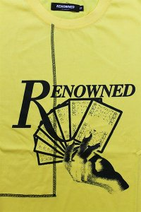 RENOWNED LA S/S TEE CARDS DEALT 【YEL】