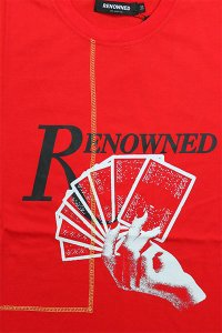 RENOWNED LA S/S TEE CARDS DEALT 【RED】