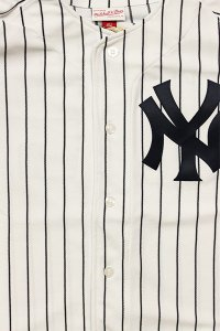 MITCHELL&NESS AUTHENTIC WORLD SERIES BASEBALL JERSEY YANKEES【WHT/NVY】