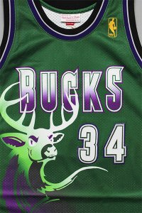 MITCHELL&NESS AUTHENTIC JERSEY BUCKS RAY ALLEN 【D.GRN/PUR】