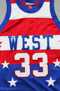 MITCHELL&NESS AUTHENTIC JERSEY ALL STAR WEST【BLU/RED】